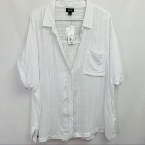 a.n.d  A New Day White Button Front Blouse sz XL